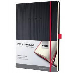 Sigel CONCEPTUM Notebook Red Edition, A4, záznamní kniha linkovaná, 194 listů