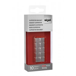 SIGEL Magnety SuperDym C5 Strong, kostka 10x10x10 mm, stříbrné, sada 10 ks