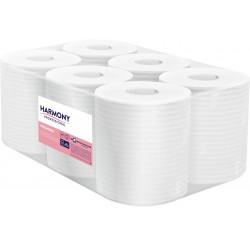 Harmony Professional, 2 vrstvé bílé utěrky Maxi, návin 125 m, 6 rolí, středové odvíjení