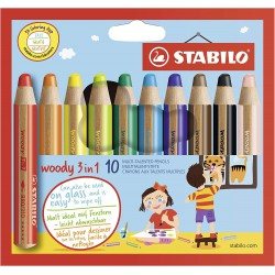 STABILO woody 10 barev, multifunkční pastely 3 v 1