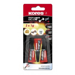 Kores Power Glue Gel, vteřinové lepidlo 3x1 g