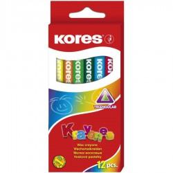 Kores Krayones voskové pastelky trojhranné, sada 12ks
