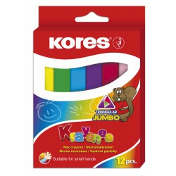 Kores Krayones voskové pastelky JUMBO trojhranné, sada 12ks