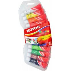 Kores Temperas, temperové barvy v tubách, 12 barev