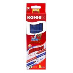Kores Twin Jumbo červeno modrá tužka oboustranná, balení 6 ks