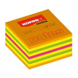 Kores lepící neonové bločky Cubo Summer 75x75 mm, 450 lístků