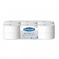 BulkySoft, toaletní papír Mini Jumbo Premium  2 vrstvý bílý, průměr 19 cm