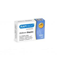 Rapesco 26/6, spony do sešívačky 1000 ks
