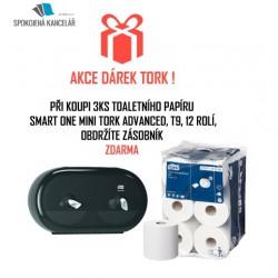 Tork 472193, SmartOne Mini toaletní papír Advanced, dvouvrstvý, T9, 3x karton 12 rolí + dárek zásobník zdarma