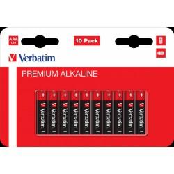Verbatim Alkaline Premium Baterie mikrotužkové AAA, LR03, blistr 10ks