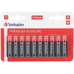 Verbatim Alkaline Premium Baterie tužkové AA, LR03, blistr 10ks