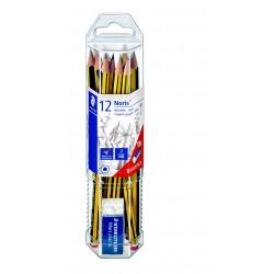 STAEDTLER Noris 120, grafitová tužka šestihranná, tvrdost HB, sada 12 ks, pryž zdarma