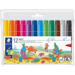 Staedtler dětské fixy Noris Club Jumbo 340 WP12, sada 12 barev