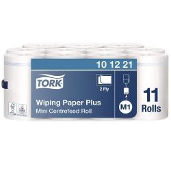 Tork 101221 papírová utěrka Plus se středovým odvíjením bílá - Mini, návin 75 m, M1, karton 11 rolí