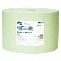 Tork 129243 průmyslová papírová utěrka v roli zelená, 1500 útržků, W1