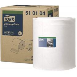 Tork 510104, jemná čisticí utěrka na roli bílá, 1000 ůtržků, W1