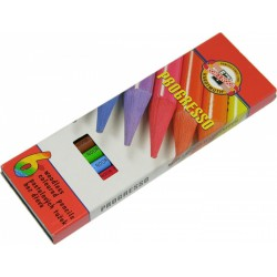 KOH-I-NOOR 8755, souprava tužek pastelových v laku Progresso, 6 barev