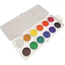KOH-I-NOOR 172510, barvy vodové průměr 30 mm, 12 barev