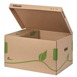 Archivační kontejner s víkem Esselte Eco 623918, hnědá
