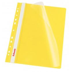 Rychlovazač Esselte A4 Závěsný PP Euroděrování, přední strana průhledná, žlutá