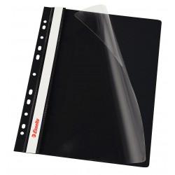 Rychlovazač Esselte A4 Závěsný PP Euroděrování, přední strana průhledná, černá