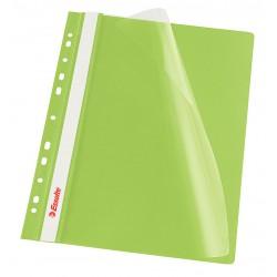 Rychlovazač Esselte A4 Závěsný PP Euroděrování, přední strana průhledná, zelená
