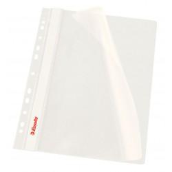 Rychlovazač Esselte A4 Závěsný PP Euroděrování, přední strana průhledná, bílá