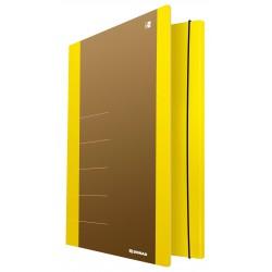 Odkládací mapa Donau, 3 klopy karton s gumičkou, 500 g, žlutá