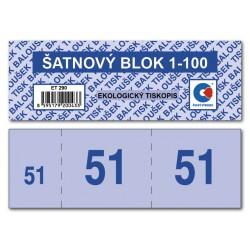 Baloušek ET290, šatnový blok 1-100