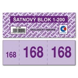 Baloušek Šatnový blok ET295,  číslování 1-200