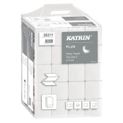 Katrin 35311, Papírové ručníky ZZ, 2vrstvé, 20bal. x 200 útržků , bílé, Handy Pack