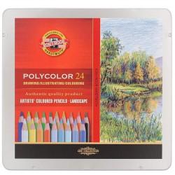 Umělecké pastelky Polycolor 3824 Koh-i-noor, edice krajina, 24 ks
