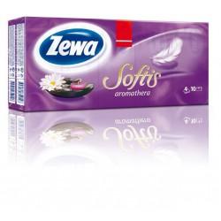 Zewa Softis Aromatherapy, kapesníčky 4 vrstvé , 10x9 ks, 100% celulóza