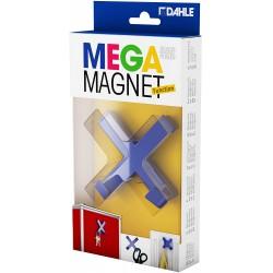 DAHLE 95550, designový magnet Cross XL, s háčky, 90 x 90 mm, modrý
