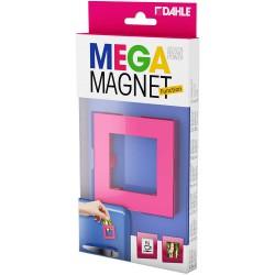 DAHLE 95553, designový magnet Mega Magnet Square XL, pro foto, 75 x 75 mm, růžový