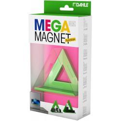 DAHLE 95552, designový magnet Mega Magnet Delta XL, s poličkou, 75 x 75 mm, zelený