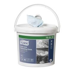 Tork 190492, Low-Lint čisticí utěrka v přenosném kbelíku, 200 útržků, W10