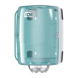 Tork 659000, zásobník na role se středovým odvíjením Bílá/Tyrkysová, systém M2