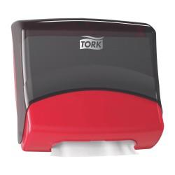 Tork 654008, zásobník na skládané utěrky Červená/Černá, systém W4
