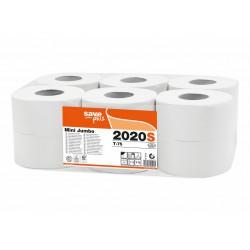 Celtex Mini Jumbo 2020S, toaletní papíry 2 vrstvé průměr 19 cm, 75% celuloza
