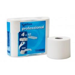 Celtex Professional 10080, Toaletní papír, 2 vrstvý, 500 útržků, extra velký návin 55 m
