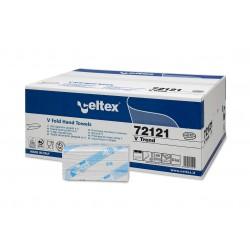 Celtex V Trend 72121,  Dvouvrstvé papírové ručníky skládané , bílé, 3150 ks