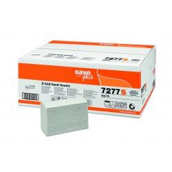 Celtex Z Fold 7277S, Dvouvrstvé papírové ručníky skládané bílé Interfold, 3000 ks