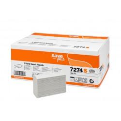 Celtex V Fold 7274S, Dvouvrstvé papírové ručníky skládané bílé Interfold, 3000 ks