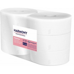 Harmony Professional toaletní papír Jumbo průměr 240 mm, 2 vrstvý bílý