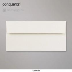 Conqueror Laid Oyster, žebrovaná světle béžová obálka, formát DL bez okénka, 500 ks