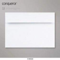 Conqueror Laid Brilliant White, žebrovaná briliantově bílá obálka, formát C5, 250 ks