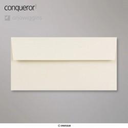 Conqueror Laid Cream, žebrovaná krémová obálka, formát DL bez okénka, 500 ks