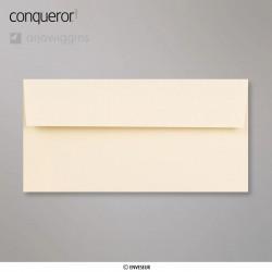 Conqueror Laid Vellum, žebrovaná pergamenová obálka, formát DL bez okénka, 500 ks