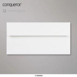 Conqueror Laid Brilliant White, žebrovaná briliantově bílá obálka, formát DL bez okénka, 500 ks